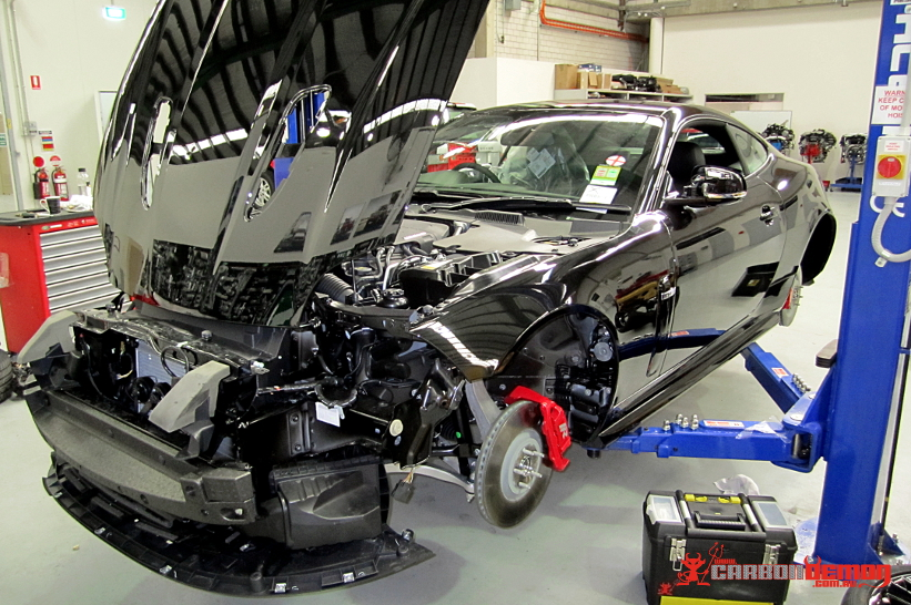 Chrome Jaguar XKR Vinyl Wrap - Carbon Demon