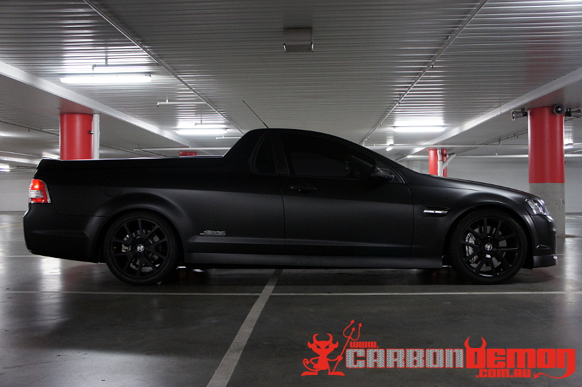 Matte Black Holden Ve Vinyl Wrap