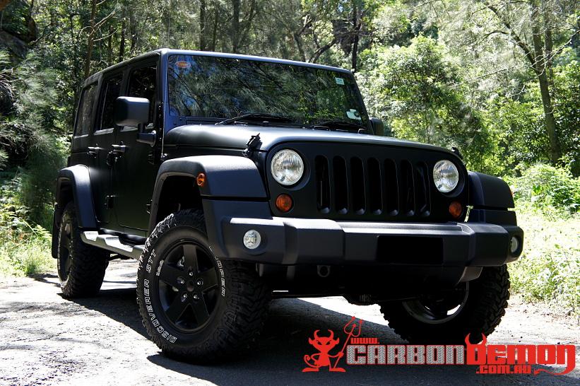 Matte Black Jeep1 JEEP Wrangler Matte Wrap