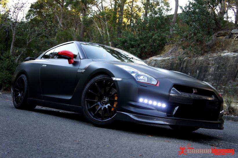 Nissan GT-R Matte Black Wrap (4)
