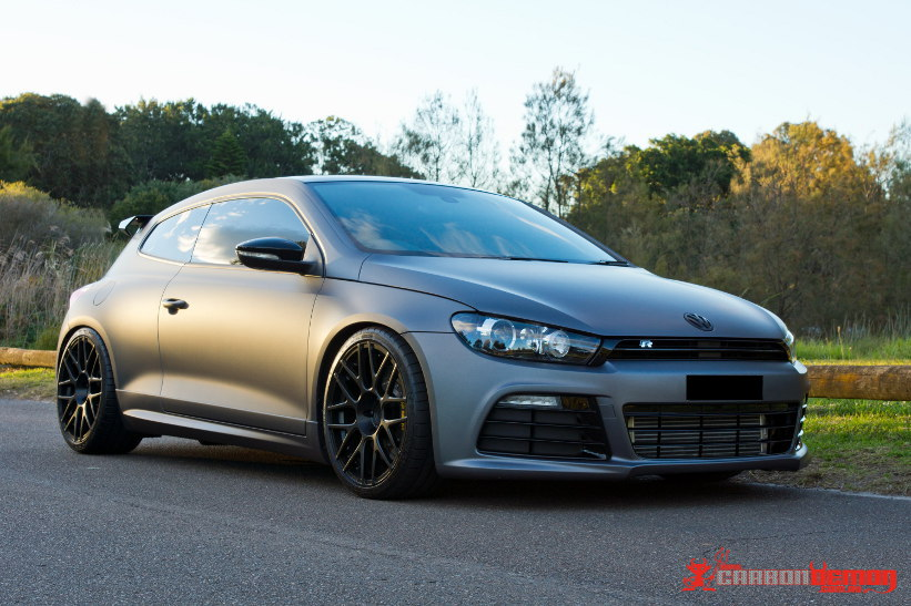 VW Scirocco Matte Grey Vinyl Car Wrap VW Scirocco   Matte Grey Metallic Vinyl Wrap