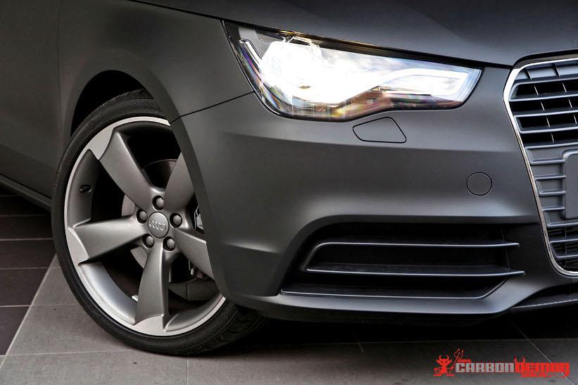 Audi A1 Matte Vinyl Wrap - Carbon Demon Vinyl Wrap, Sydney Australia