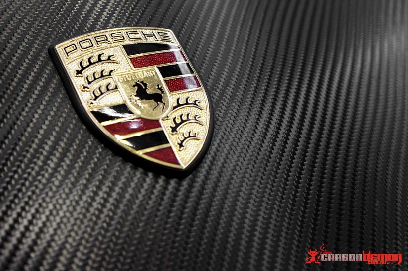 Porsche 991 997 Carbon Fibre Vinyl Car Wrap