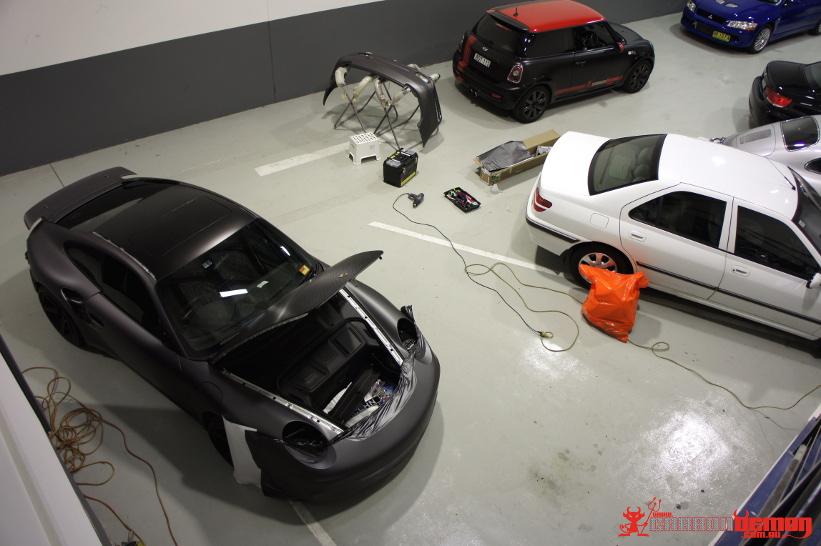 Porsche 991 997 Carbon Demon Vinyl Wrap