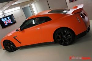 Matte Orange R35 GTR Vinyl Wrap (4)