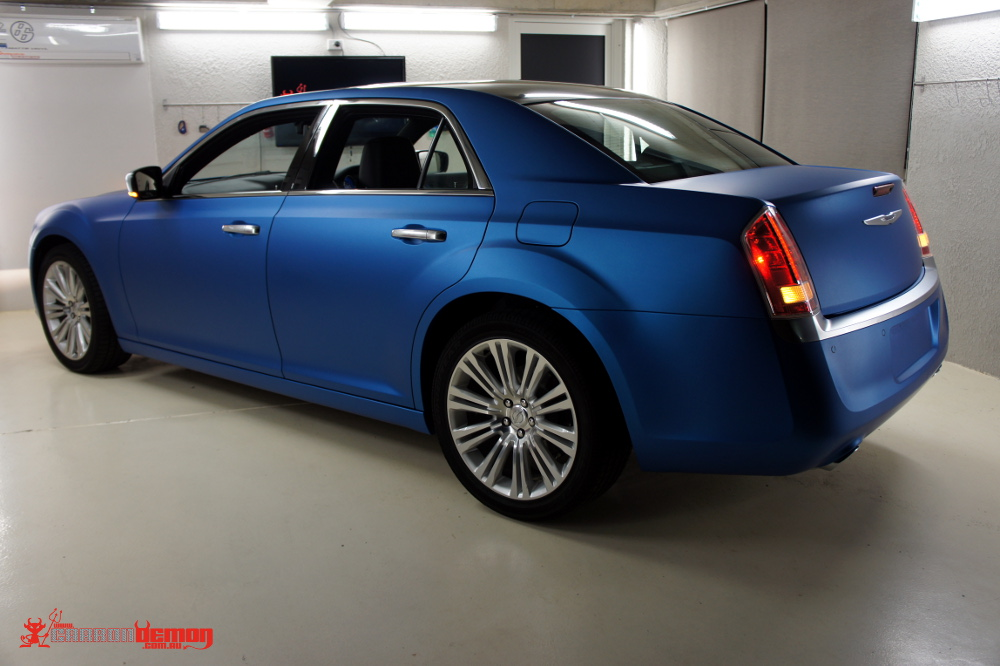 300c Vinyl Wrapped in Matte Blue