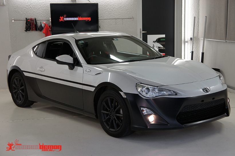 Black Matte Car >> Toyota 86 Initial D (Panda) Vinyl Wrap | Carbon Demon