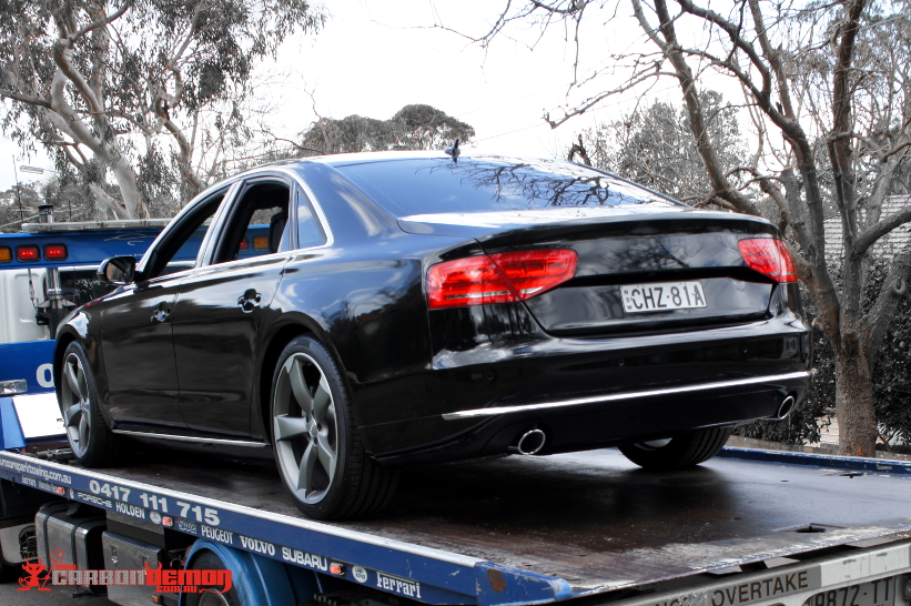 Wolverine AUDI A8 Movie Car - Wrapped in Gloss Black Vinyl