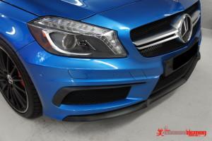 AMG A45 carbon fibre front lip vinyl wrap