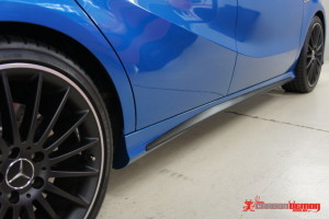 AMG A45 carbon fibre side skirt vinyl wrap