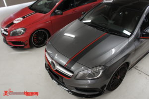 AMG A45 matte red