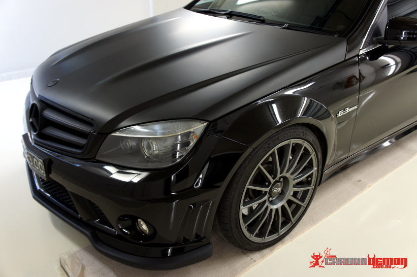 amg  cla    vinyl wraps carbon demon