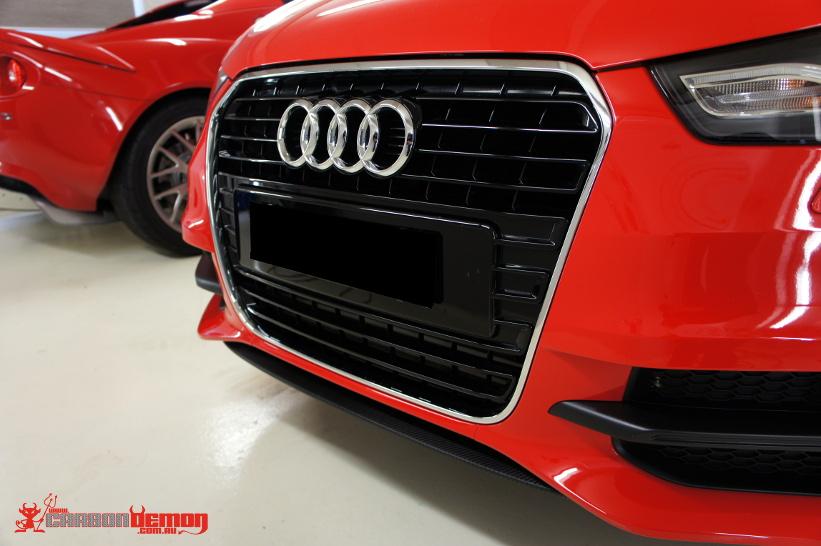 Audi A1 Carbon Fibre Front Splitter Vinyl Wrap