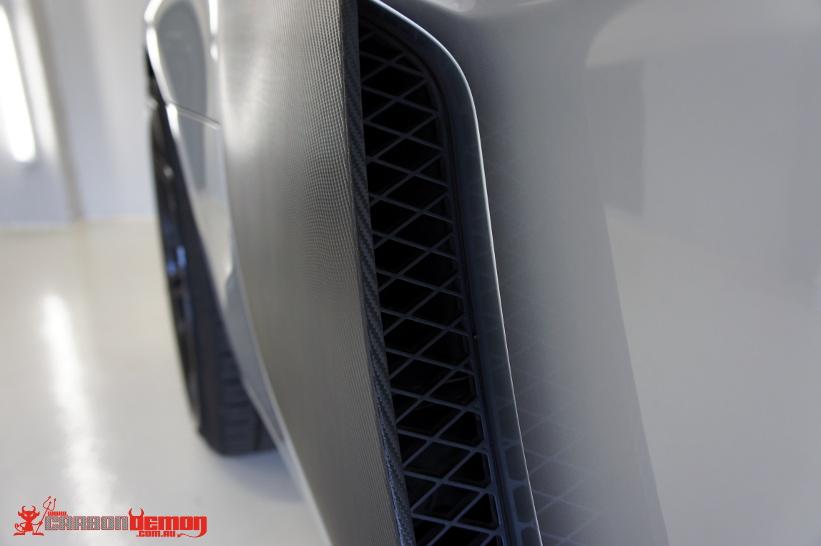 Audi R8 Carbon Fibre Vinyl Wrap Side Blade