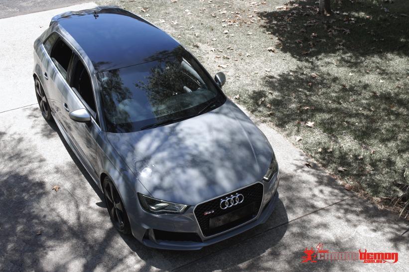 Audi Rs3 Gloss Black Roof Wrap Carbon Demon