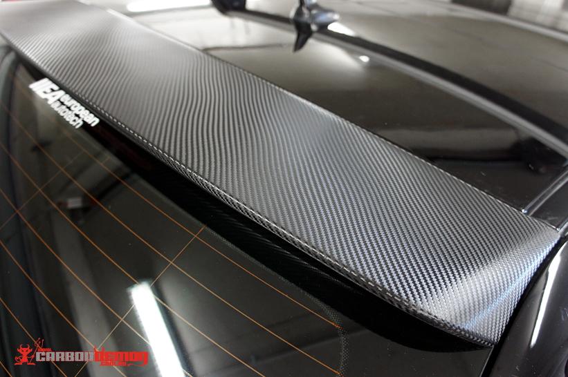Audi S3 carbon fibre spoiler vinyl wrap
