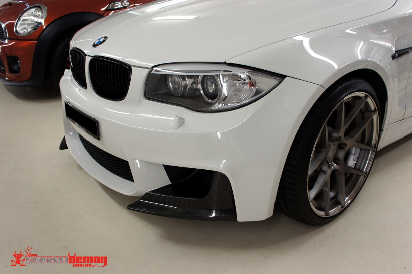 BMW 1M Front bumper air dam black out