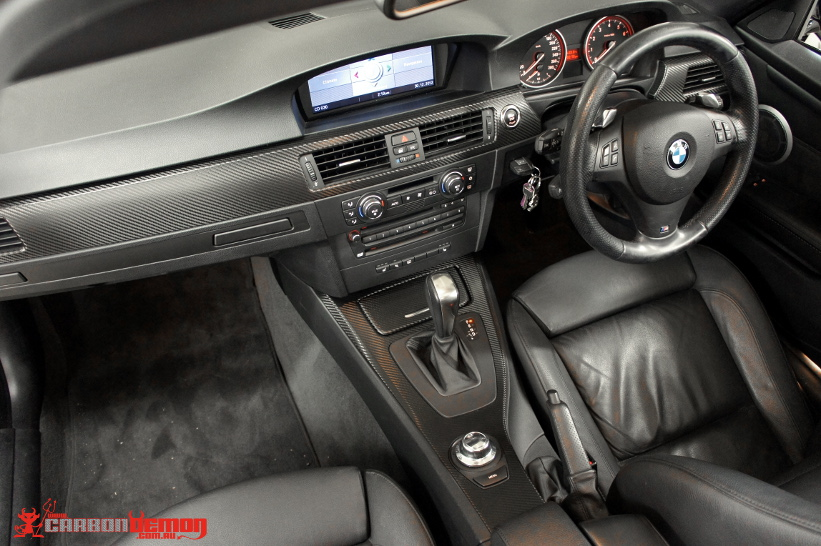 BMW 335i Twin Turbo Carbon Fibre Interior Vinyl Wrap
