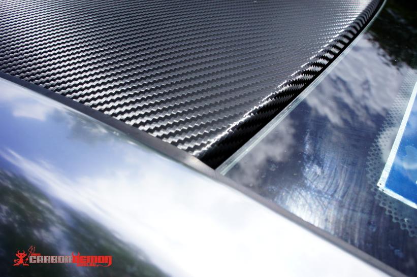 Carbon fibre vinyl roof wrap