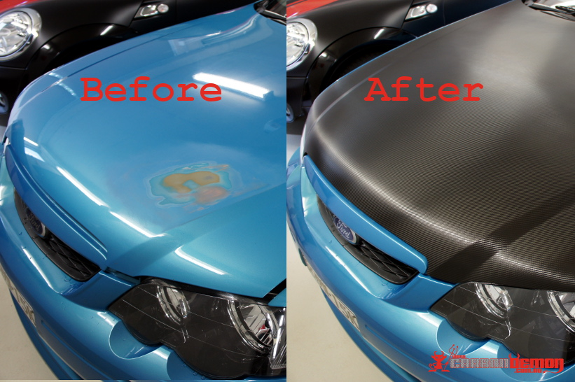 Falcon Bonnet Refinish Before & After