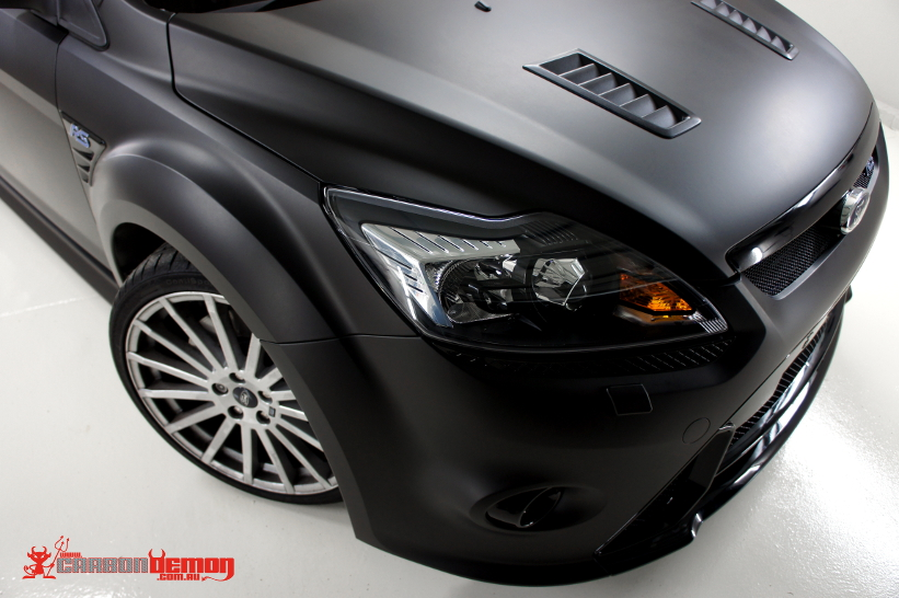 Ford Focus Rs Matte Black Vinyl Wrap Rs500 Replica By