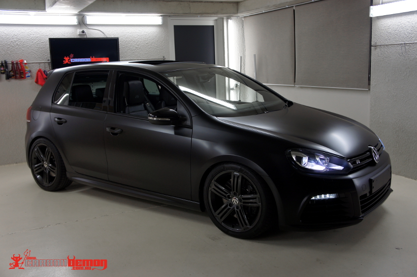 Vw Golf R Matte Black Vinyl Wrap