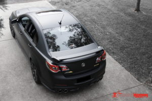 Holden VF2 matte black vinyl wrap