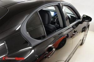 IS350 black window frame vinyl wrap