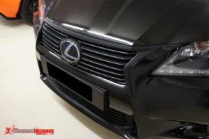 Lexus IS350 black grille vinyl wrap