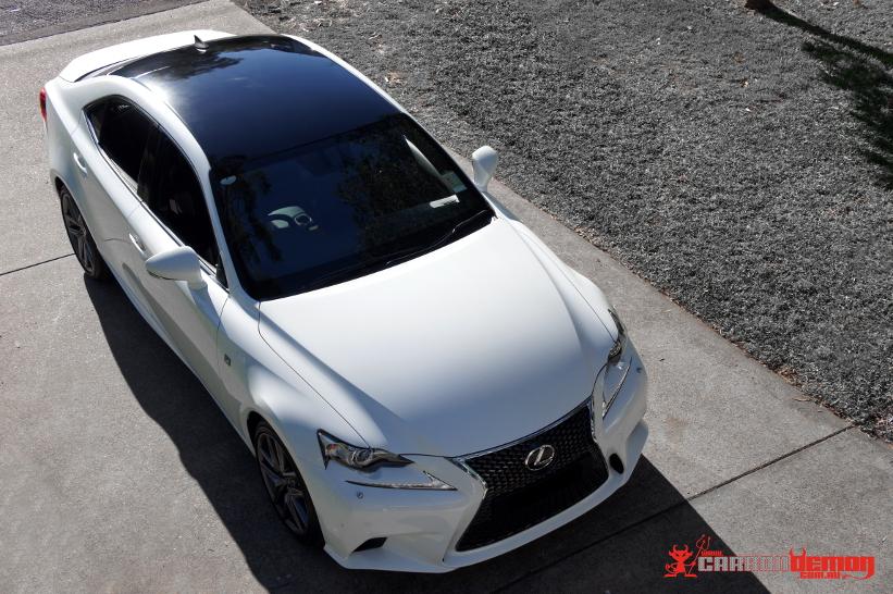Lexus IS350 panoramic-look roof wrap