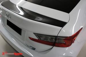 Lexus RC F black spoiler vinyl wrap