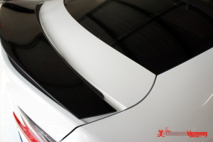Lexus RCF black spoiler with vinyl
