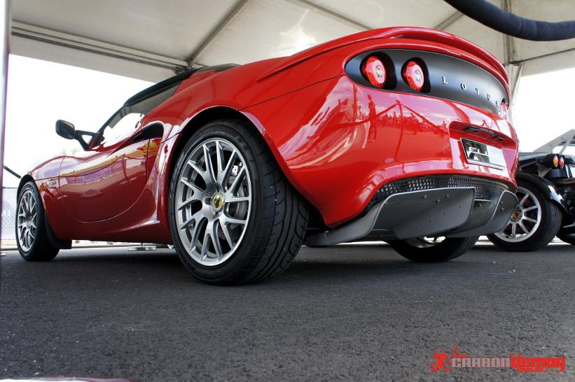 Lotus Australia Show Car - Vinyl wrapped accents by Carbon Demon