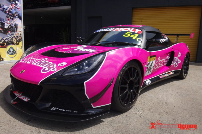 Lotus race car livery wrap