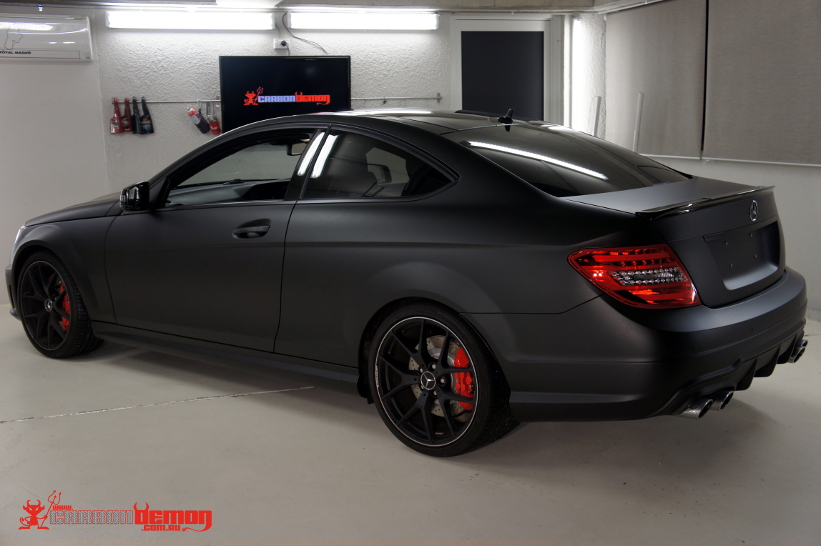 Matte black C63 (vinyl wrapped)