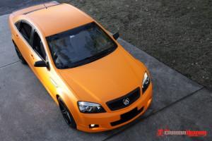 Matte orange Holden V8