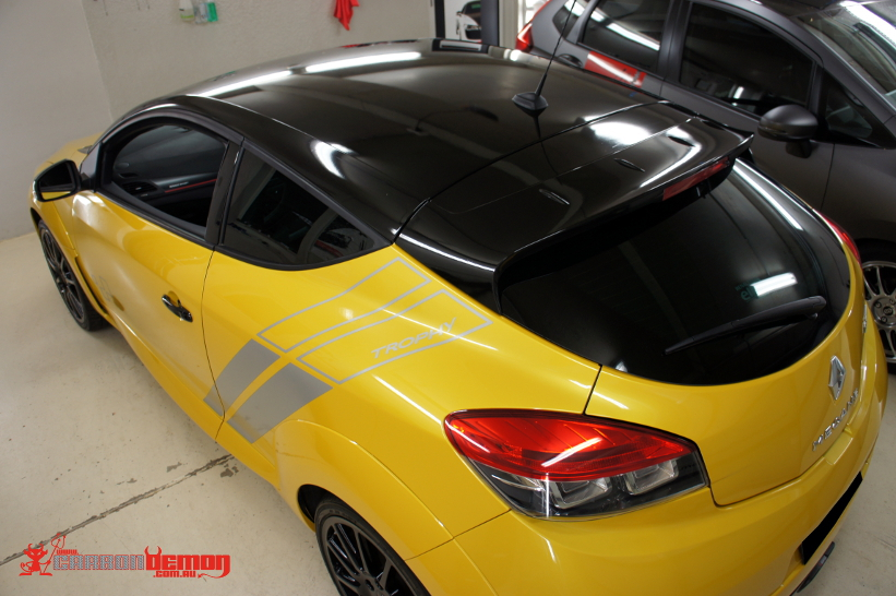 Renault Megane RS265 RS250 Clio Gloss Black Roof | Carbon Demon