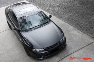 Monaro matte black bonnet & roof