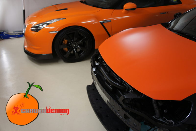 Orange Vinyl Wrap by Carbon Demon