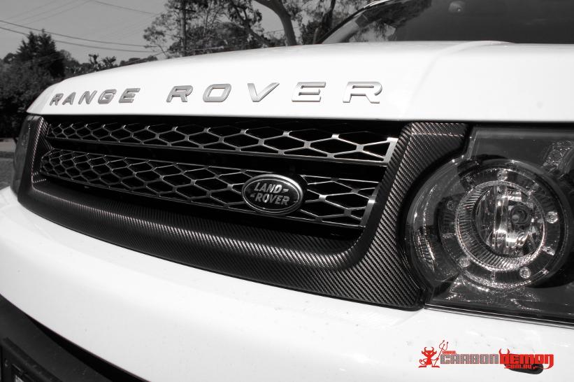 Range Rover Carbon Fibre Grille Wrap