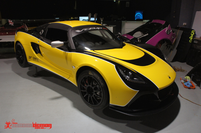 Lotus Elise Exige Stripes Decals Vinyl Wrap Carbon Demon
