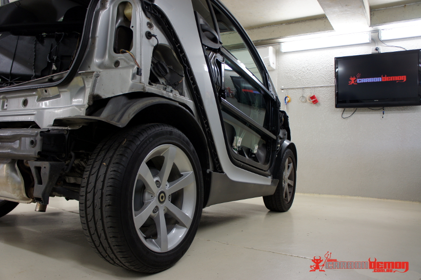 Smart Car Body Panels Removal