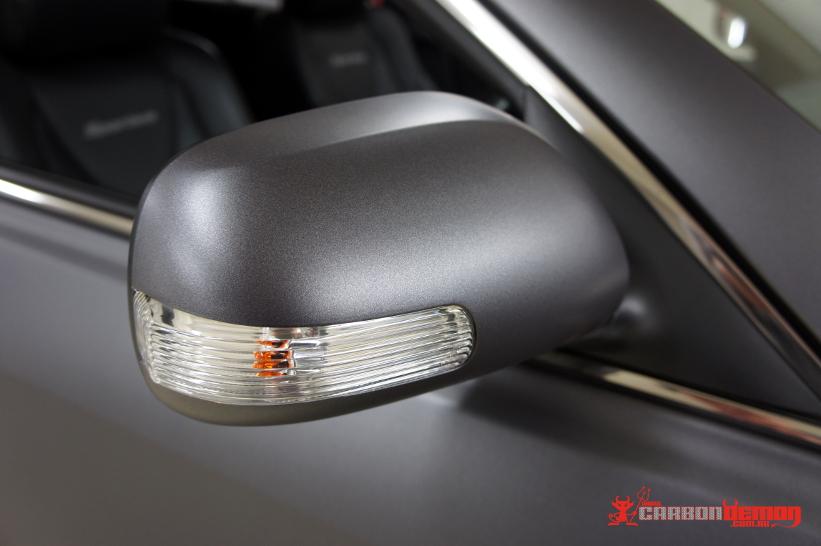 Toyota Sportivo wrap 3M M261 Matte Grey Metallic Vinyl - Carbon Demon