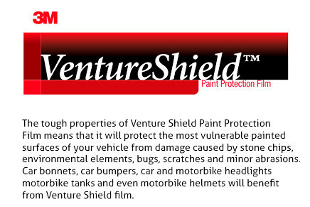 3M Venture Shield PPF Paint Protection Film