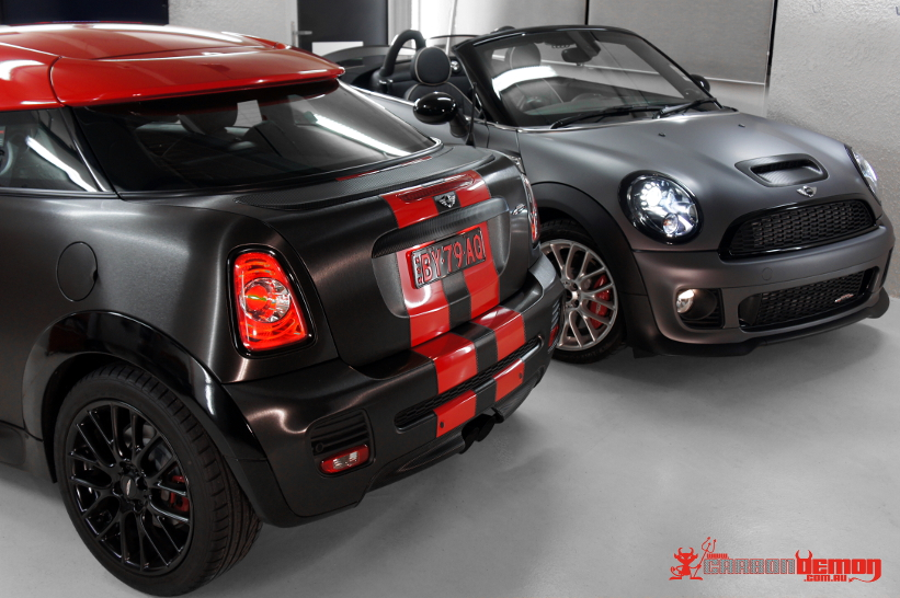 Matte wrapped JCW Mini R58