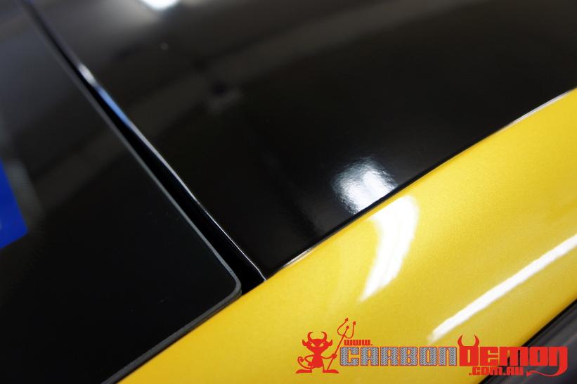 Megane RS Trophy Gloss Black Vinyl Roof Car Wrap