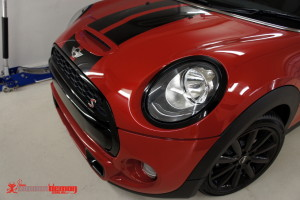 Mini F56 de-chrome with gloss black vinyl wrap
