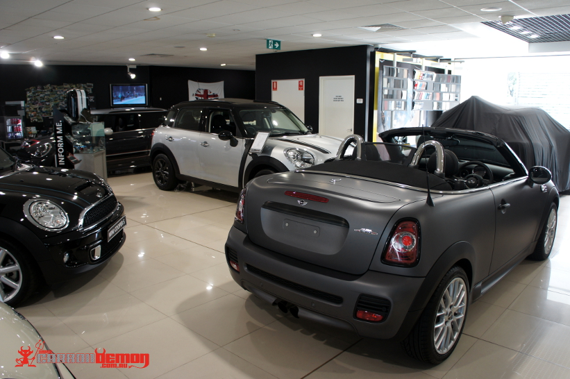 Mini JCW Matte Grey - wrapped by Carbon Demon