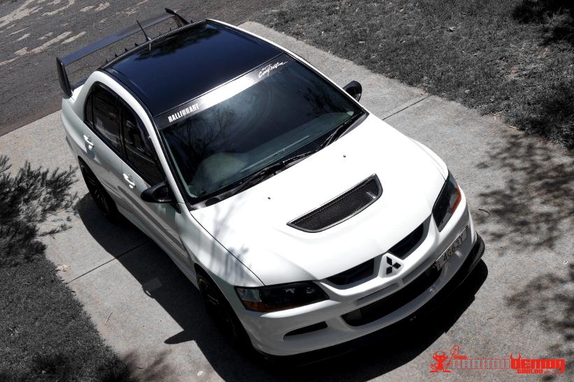 Mitsubishi EVO 8 MR Gloss Black Roof Vinyl Wrap