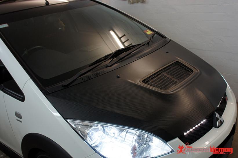 Mitsubishi Ralliart Colt Carbon Fibre Bonnet Wrap
